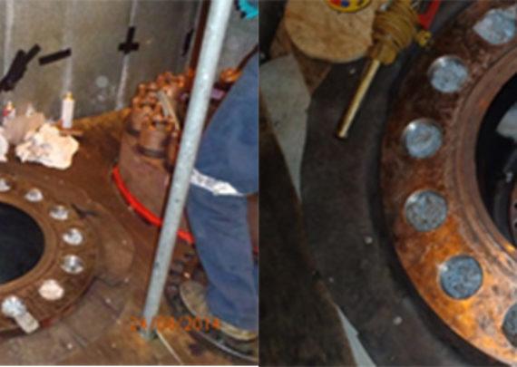In-situ steam valve seat and gasket face repair
